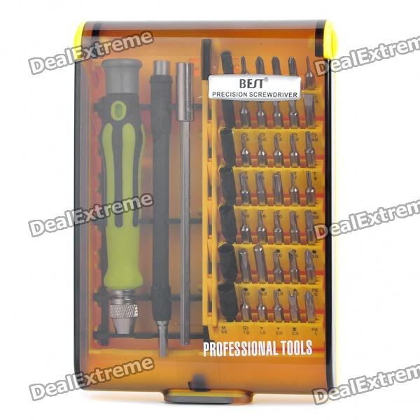Handy Precision Maintenance Tool Screwdrivers Set (45-Piece) jakemy jm 8127 multipurpose screwdriver set 53in1 interchangeable precision screwdriver portable electronic repair hardware tool
