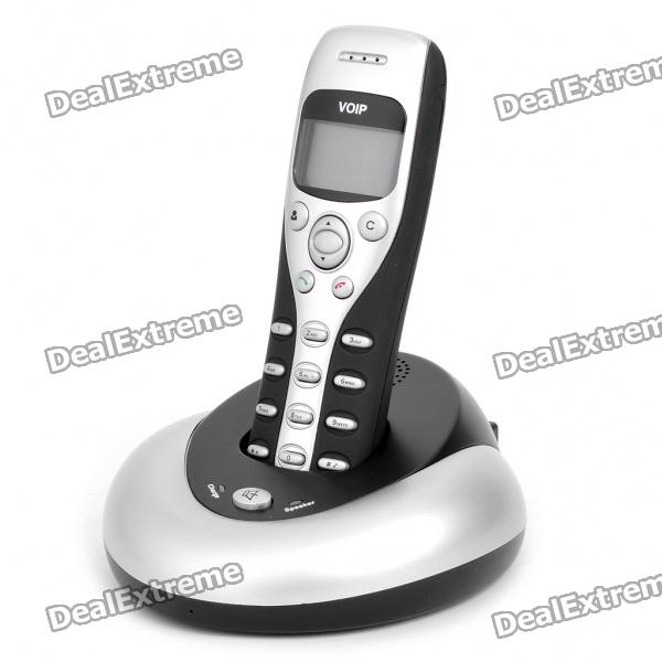 "1.4"" LCD USB Wireless VoIP Internet Phone for Skype w/ Charger/Speaker Stand Holder"