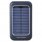Solar Powered Rechargeable 1500mAh Portable Power Pack w/ Power Adapters for Cell Phone - Black