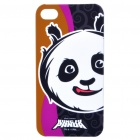 Cute Kung Fu Panda Po Figure Protective Back Case w/ Screen Guard + Cleaning Cloth for iPhone 4
