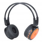 USB Rechargeable MP3 Player Headphone with FM/SD/Line In - Black