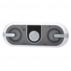 "0.7"" LCD USB Rechargeable Music Speaker MP3 Player w/ FM/TF/USB/3.5MM Jack - Silver Grey"