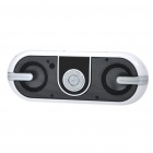 "0.7"" LCD USB Rechargeable Music Speaker MP3 Player w/ FM/TF/USB/3.5MM Jack - Black"