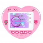 "1.77"" Touch Screen Heart Style Dual SIM Dual Network Standby Quadband GSM Cell Phone w/FM - Pink"
