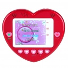 "1.77"" Touch Screen Heart Style Dual SIM Dual Network Standby Quadband GSM Cell Phone w/FM - Red"