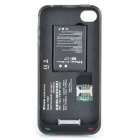 Dual SIM Dual Standby Battery Protective Back Case for iPhone 4 - Black