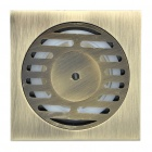 80mm Zinc Alloy Floor Drain - Bronze