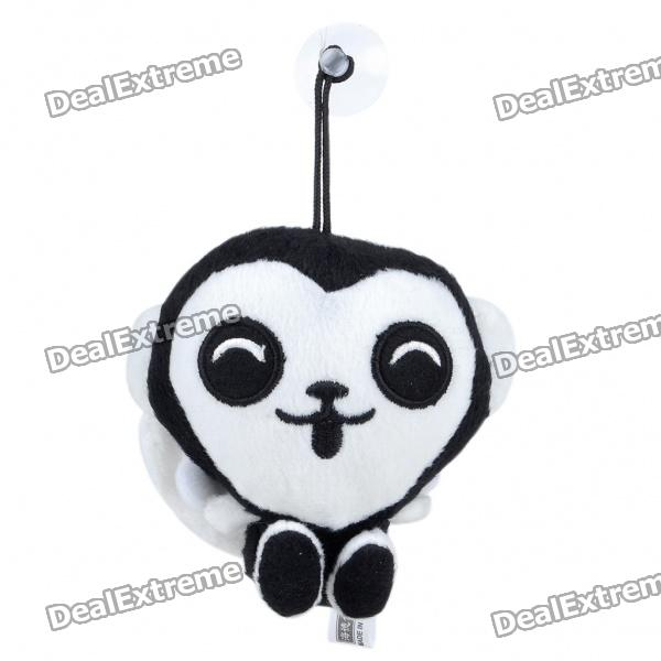 Cute Short Plush White and Black Monkey Doll Toy super cute plush toy dog doll as a christmas gift for children s home decoration 20