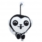 Cute Short Plush White and Black Monkey Doll Toy