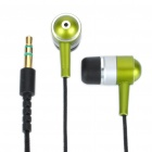Unique Zip In-Ear Stereo Earphone - Green (3.5MM-Jack/103CM-Length)