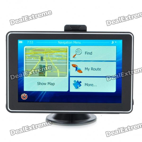 "5.0"" Touch Screen LCD WinCE 6.0 GPS Navigator w/ FM + Internal 4GB USA & Canada Maps"