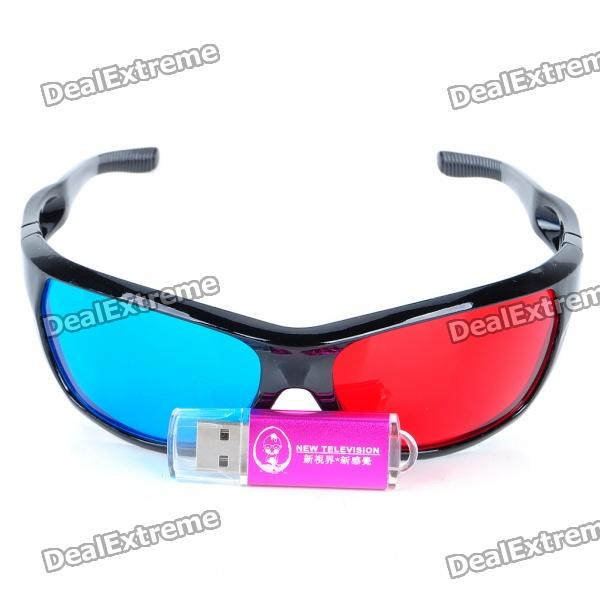 USB Worldwide Internet TV & Radio Stations Player Dongle with 3D Glasses