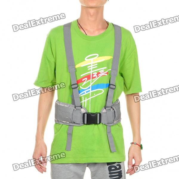 Tactical Military Belt with Suspenders