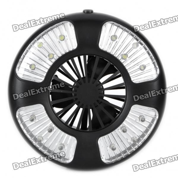 3-Mode 16-LED White Light Camping Lamp + Cooling Fan (4 x AA)
