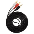3.5mm Male to 2 RCA Male Audio Cable (180CM-Length)