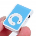 USB recargable de pantalla gratis Reproductor de MP3 con TF Slot/3.5mm Audio Jack / Clip - Azul
