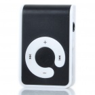 USB Rechargeable Screen-Free MP3 Player with TF Slot/3.5mm Audio Jack/Clip - Black