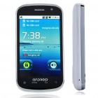 "3.5"" Touch Screen Android Dual SIM Dual Network Standby Quadband GSM TV Cell Phone w/ WiFi - White"