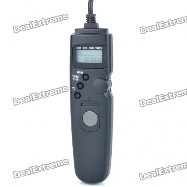 0.9 LCD Wired Remote Shutter Release for Nikon D90/D5000 (1 x CR2032) wired remote shutter release for canon eos30 eos33 pentax samsung more