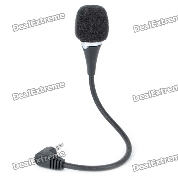 Flexible Neck Mini Microphone for Laptop - Black (3.5mm Jack) мышь trust gxt166 mmo laser gaming black usb