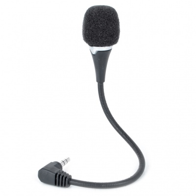 Flexible Neck Mini Microphone for Laptop - Black (3.5mm Jack)