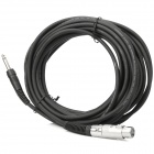 6.35mm Male to Cannon XLR 6.0mm OD 3-Pin Female Audio Adapter Cable (10M-Length)