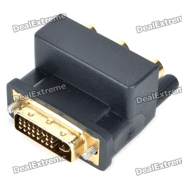 DVI 24+5 Male to Component Video Female Adapter