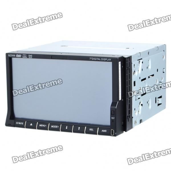 "7"" Touch Screen Dual Din DVD Player w/ GPS/FM/Bluetooth/SD/USB"