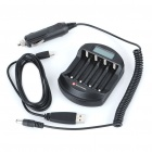 "1.2"" LCD USB/Car Cigarette Lighter Powered AA/AAA Battery Charger"
