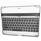 USB Rechargeable Wireless Bluetooth V2.0 82-Key Keyboard Aluminum Alloy Case for Apple iPad 2