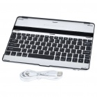 USB Rechargeable Wireless Bluetooth V2.0 82-Key Keyboard Aluminum Alloy Case for   Ipad 2