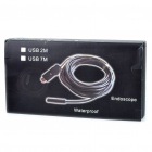 Impermeable 300KP CMOS USB 2.0 4-LED iluminado serpiente cámara endoscopio (7M-longitud)