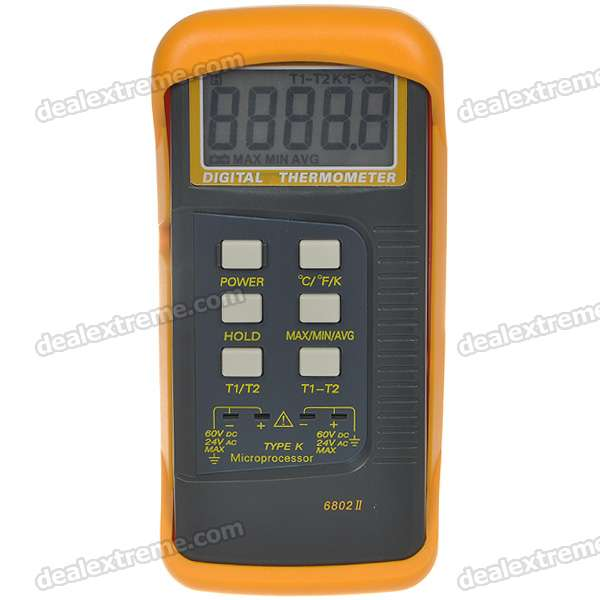 K-Type Digital Industrial Thermometer with Sensor (-50-C ~ 1300-C)