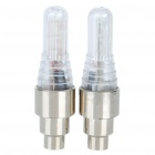 Vibration/Light Sensor Multicolored 5-LED Decorative Tire Valve Cap Lights (Pair/3 x AG10)
