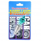 Vibration Sensor Multicolored 1-LED Decorative Tire Valve Cap Light - Green (3 x AG10)