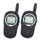 "Mini 462MHz 1.0"" LCD 22-Channel Walkie Talkies w/ 3.5mm Earphones (Pair / 3 x AAA)"