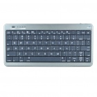 2-in-1 USB Rechargeable Bluetooth V3.0 80-Key Keyboard + 10000mAh Emergency Battery Set - Grey