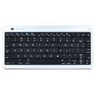 2-in-1 USB Rechargeable Bluetooth V3.0 80-Key Keyboard + 10000mAh Emergency Battery Set - Silver