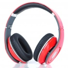 Designer's Fashion Folding Stereo Headphone Earphone - Red (2 x AAA)