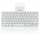 Genuine   Ipad Keyboard Dock - White + Silver
