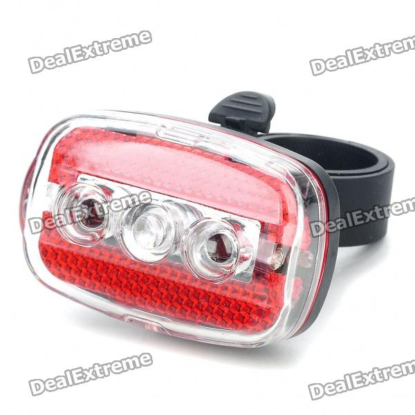 7-Mode 5-LED Safety Bike Tail Light with Mount - Red & Blue Light (2 x AAA) bicycle bike 7 mode 5 led red light tail warning safety light red black 2 x aaa
