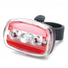7-Mode 5-LED Safety Bike Tail Light with Mount - Red & Blue Light (2 x AAA)