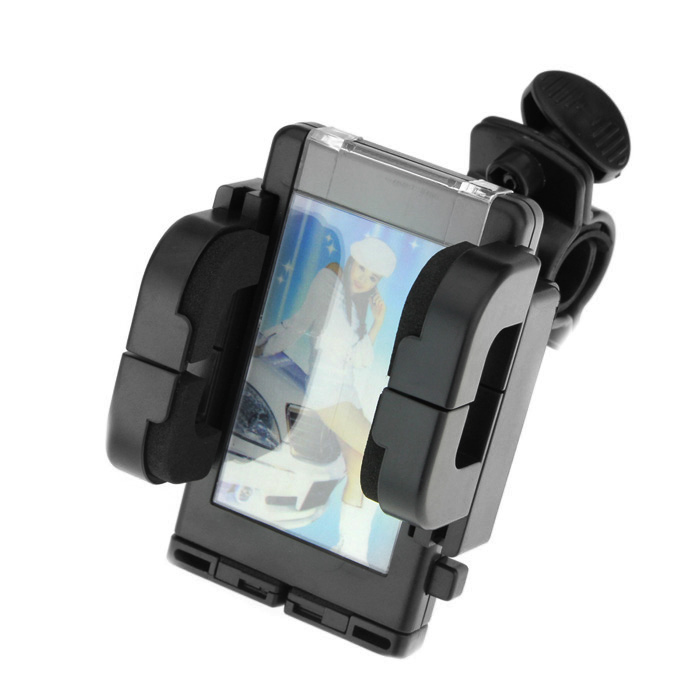 Universal Bicycle Windshield Swivel Mount for Cell Phones/MP4/GPS (3.7~10.8cm Width) windshield universal swivel rotation car mount holder for cell phone gps psp iphone black