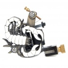 Professional Replacement Scorpion Pattern Metal Tattoo Machine Gun - White