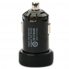 Universal 2000mA USB Car Charger Adapter for Digital Devices - Black (12~24V)