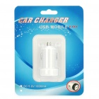 Universal 1000mA USB Car Charger Adapter for Digital Devices - White (12~24V)