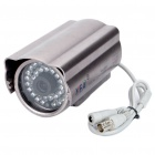 300KP CMOS Wired Surveillance Security Waterproof Camera with 36-IR LED Night-Vision - Purple Grey