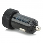 Dual USB Car Cigarette Lighter Powered Charger - Black (24V/12V)