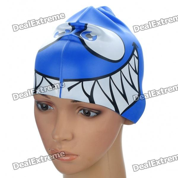 Fish Shaped Swimming Cap - Blue
