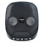 Compact Rechargeable 4W MP3 Music Speaker with FM/USB/SD Slot - Black